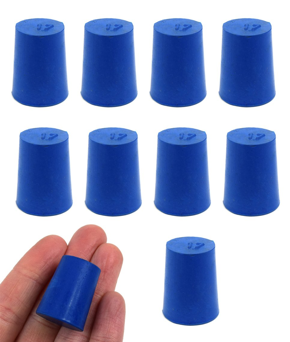 10PK Neoprene Stoppers Don't 67% OFF of fixed price miss the campaign Solid - Blue 17mm 20mm Bottom Size: T