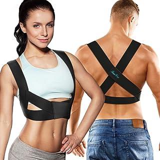 FunCee Posture Corrector for Men & Women, Adjustable Upper Back Brace Back Straightener provide Support&Pain Relief for Neck Shoulder Clavicle Chest Lumbar Skin-friendly for Work Sport Office (Medium)