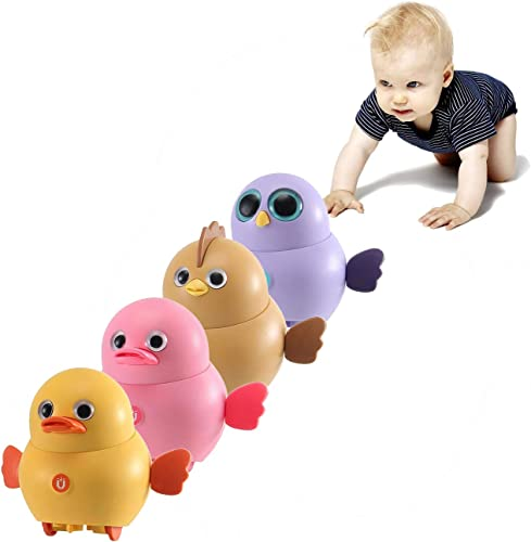 lowest OPTIMISTIC online sale 4 Pcs Electric Chick Toys Interactive Chicken Toy for Toddler and Kids Swing Magnetic Toy Electric Crazy Chicks Boy Toy Preschool Learning Toy Electronics Chick Toy Doll for wholesale Kids outlet sale