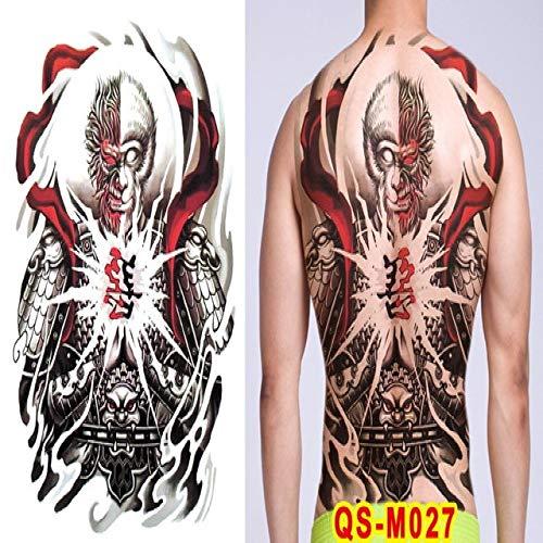 Handaxian 2pcs Hommes Tatouage Dragon arrière Tatouage Grand Autocollants d'art imperméable à l'eau 2pcs-19