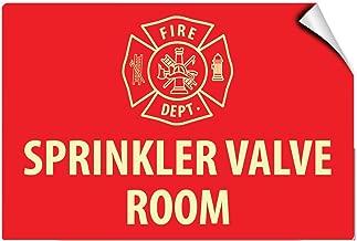Fire Dept Sprinkler Valve Room Hazard Fire Label Decal Sticker 10 Inches X 7 Inches