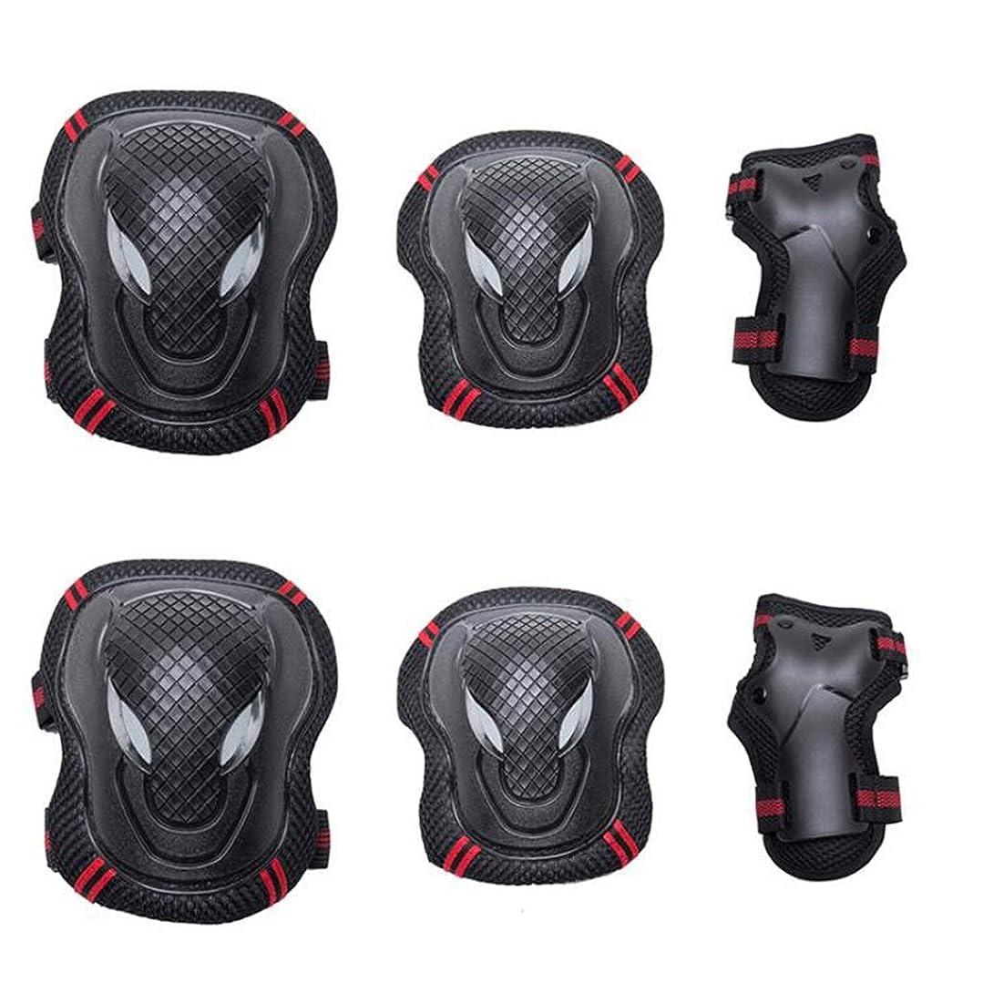 どれか熟練した岸スポーツ用膝パッドセット、調整可能な膝と肘パッド付きリストガード付きマルチスポーツ野外活動用(6個)