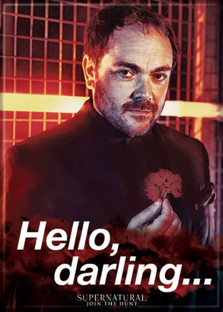 Ata-Boy Supernatural Crowley 'Hello Austin Mall Darling' Regular discount Magnet 2.5