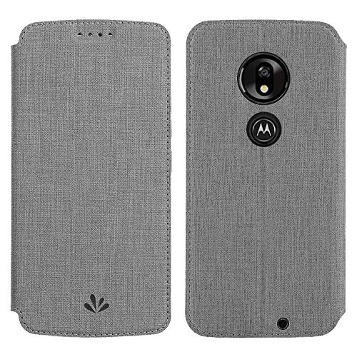 Simicoo Motorola G7 Power Flip PU Leather Wallet Case Card Holster Stand Magnetic Cover Clear Silicone TPU Full body Shockproof Pocket Thin Wallet Case For Moto G7 Power Motorola g7 Optimo Maxx (Gray)