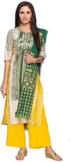 Aurelia Women's Rayon a line Salwar Suit Set (19AUD10177-500880_T-Yellow_Small)
