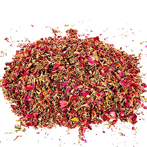 Wuweihome 100 Grams Dried Rose Petal Natural Dry Flower Confetti, Biodegradable Dried Flower Petals Wedding Confetti for Wedding Party, Graduation Photoshoot, Home Decoration and DIY Crafts Silk Flower Arrangements