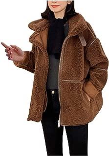 Surprise S Women Lamb Wool Short Coat Winter Loose Hair Velvet Jacket Streetwear Coat