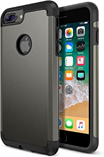 Trianium iPhone 8 Plus Case, Protanium Apple iPhone 8Plus Case (2017) with Heavy Duty Protection/Shock Absorption/Dual Layer TPU + Rigid Back Armor/Anti-Scratch/Reinforced Corner -Gunmetal