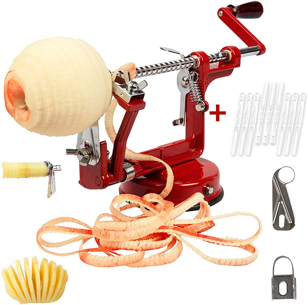 Max 80% OFF Apple Peeler 3 Dallas Mall in 1 Slicer with Corer an Steel Stainless