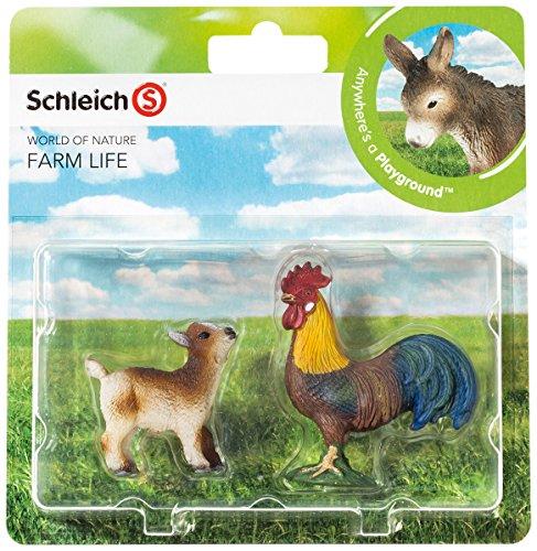 Schleich 21032 - Farm Life Babies, Wildtiere Spielset - Set 3