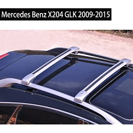 MERCEDES ML W164 2005-2011 ALUMINUM TOP ROOF RACK CROSS BAR CROSS RAILS LOCKABLE