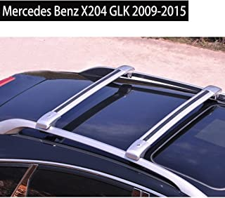 KPGDG Locking Roof Rack Crossbars for Mercedes Benz X204 GLK 2009-2015 Baggage Roof Rack Rail Cross Bar