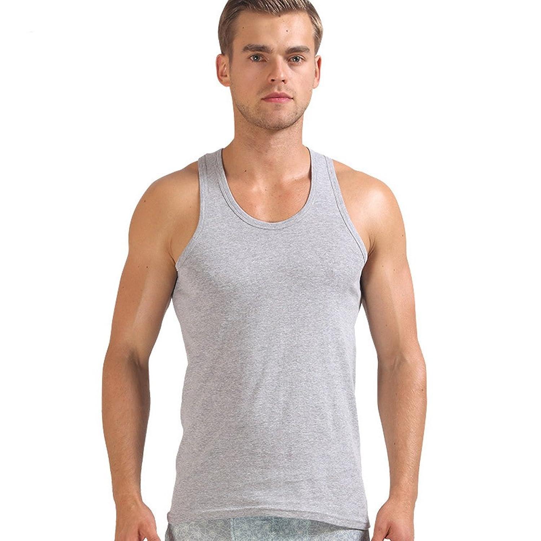 フェイスコジー(Facecozy)シャツ無袖 メンズ 2枚組 夏服 大きいサイズ タンクトップ  レイヤード デイリーウエア ウェア ストレッチ  冷感 吸汗速乾 抗菌防臭