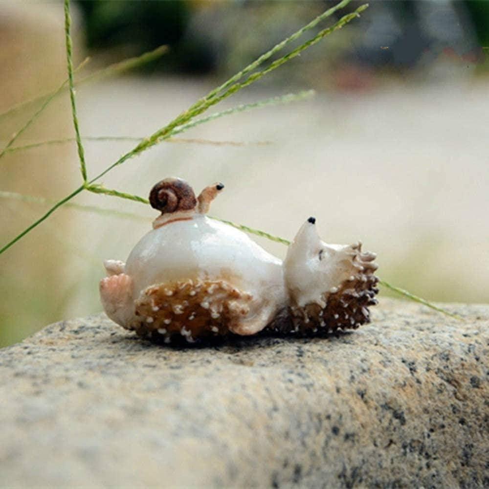 Statues Gift Lovely Spasm price Fairy Garden free Figur Hedgehog Miniatures Resin
