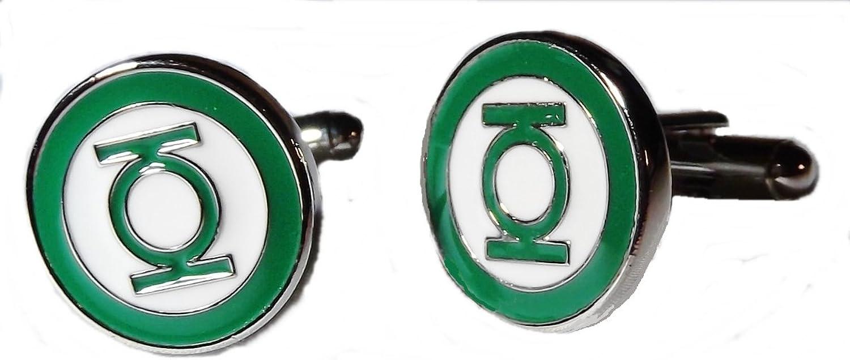 Green Lantern Logo Metal Enamel Cuff links