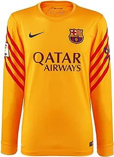 2015-2016 Barcelona Home Nike Goalkeeper Shirt (Gold)