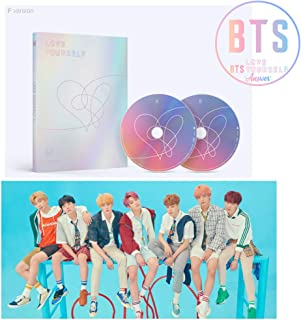 BTS LOVE YOURSELF Answer Album [F ver.] BANGTAN BOYS 2CD + Official Poster + Mini Book + Photo Card + Sticker Pack + Gift (4 Photo Cards Set)