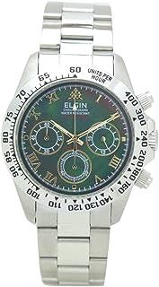 [エルジン]ELGIN 腕時計 200M防水 ブラックシェル クロノグラフ 日本製ムーブ FK1406S-B メンズ