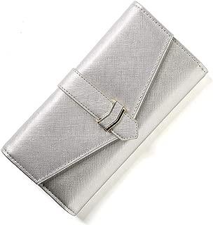 Bifold Rfid Wallets for Women PU Leather Flip Minimalist Passport Checkbook Card S9 Wallet Waterproof