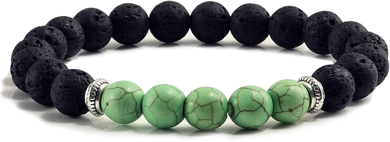 Home Max 55% OFF decoration stone Natural Men Lava Bracelets Beads Limited time cheap sale Black 8mm