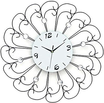 Amazon Com Gzd Modern Luxury Wall Clock3d Diy Iron Wall Clock