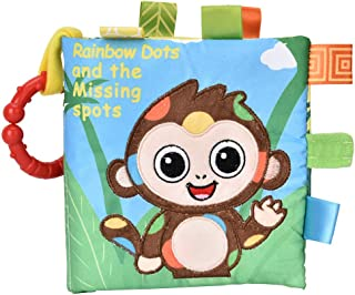 Infant Cloth Book, Early Educational Development Toys Reusable Built-in Sounder Polyester Rattles Book Toy Baby Cloth Book...