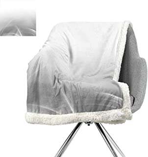 ScottDecor Grey Lightweight Microfiber Blankets,Digital Effect Gradient Light Ombre Wavy Color Abstract Theme Futuristic Style,Gray,Warm Breathable Comforter for Girls Kids Adults W59xL78.7 Inch