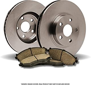 (Rear Kit)(OE SPEC)(Perfect-Series) 2 Disc Brake Rotors & 4 Ceramic Pads(5lug)-(Ships within 1 day from CALIFORNIA, US)