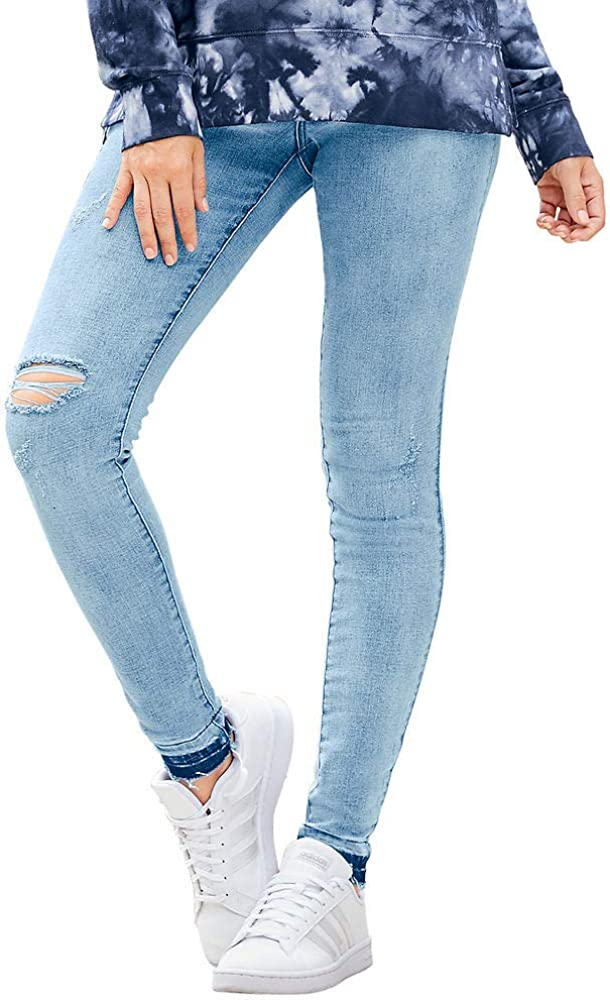 High-Rise Destructed Denim 高品質新品 特売 Skinny Jean