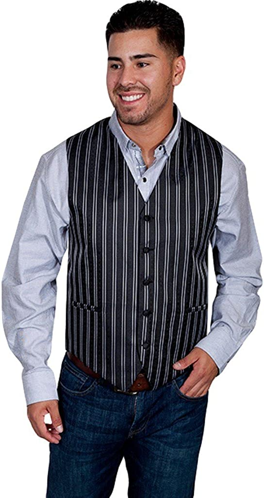 Scully Western Vest Mens Manly Quality Double Pin Button F0_RW169N