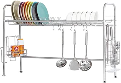 HAITRAL Dish Drying Rack, Over The Sink, One Tier