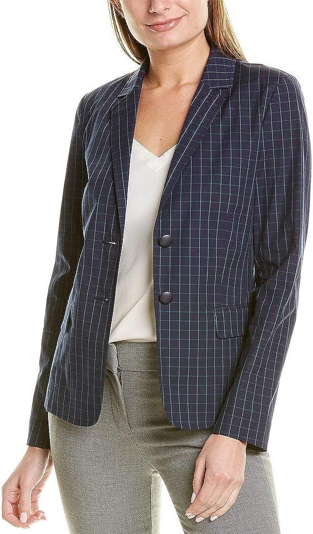Lafayette 148 New York Womens Thatcher Window Pane Suit Separate Blazer