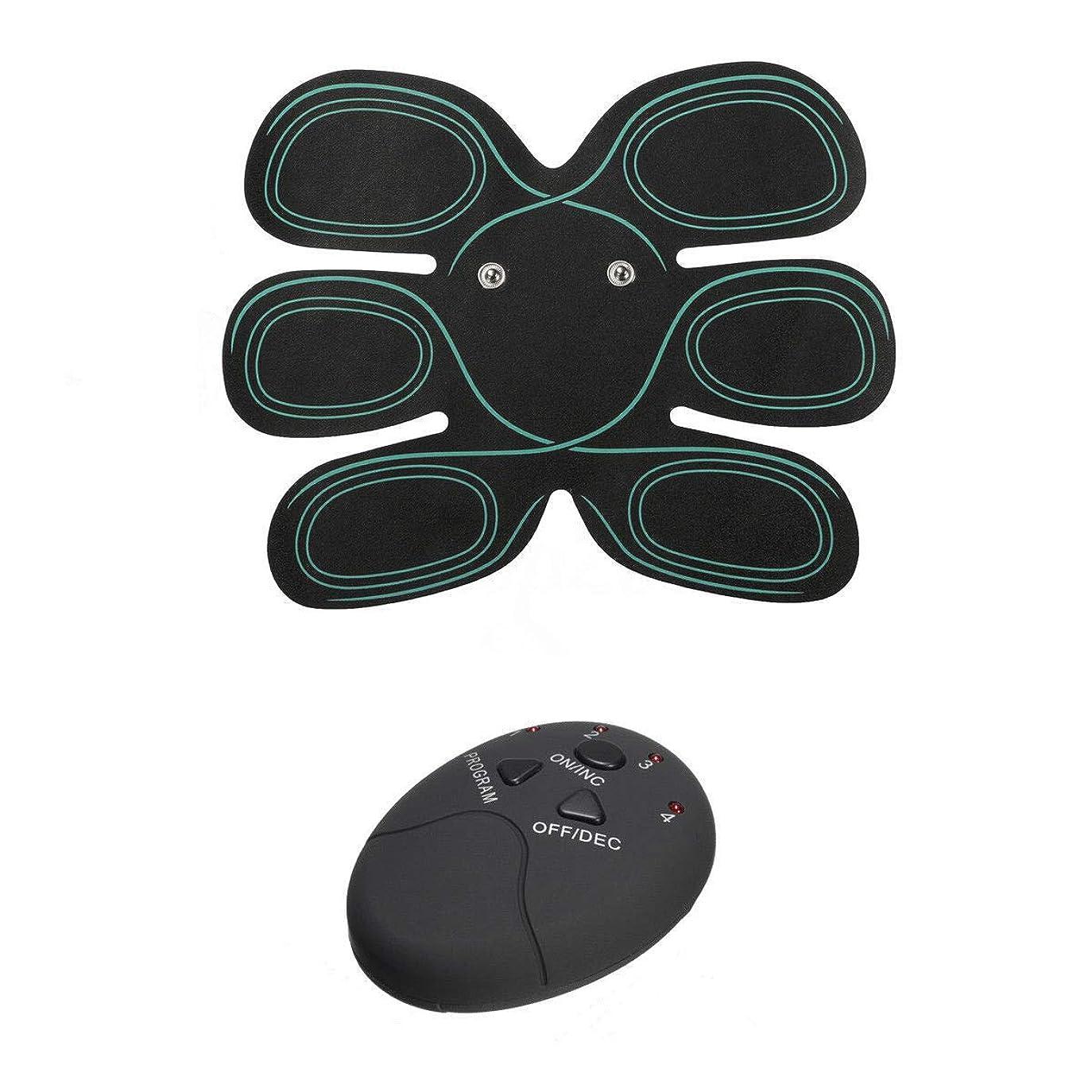 ドレイン幸福それるVANSENG スマートワイヤレス腹部テープEMSフィットネスマッサージ器パルスマッサージャーバッテリモデル
