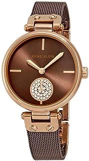 Anne Klein Swarovski Crystals Brown Dial Ladies Watch 3001RGBN