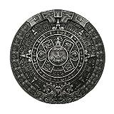 YONE Hebilla de cinturón Mayan Aztec Calendar Belt Buckle Grey