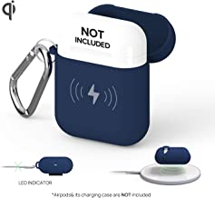 GAZEON Qi Wireless Charging Airpods case   Gaze Airpods Case Cover Protective Case Holder Compatible with AirPods (Midnight Blue)