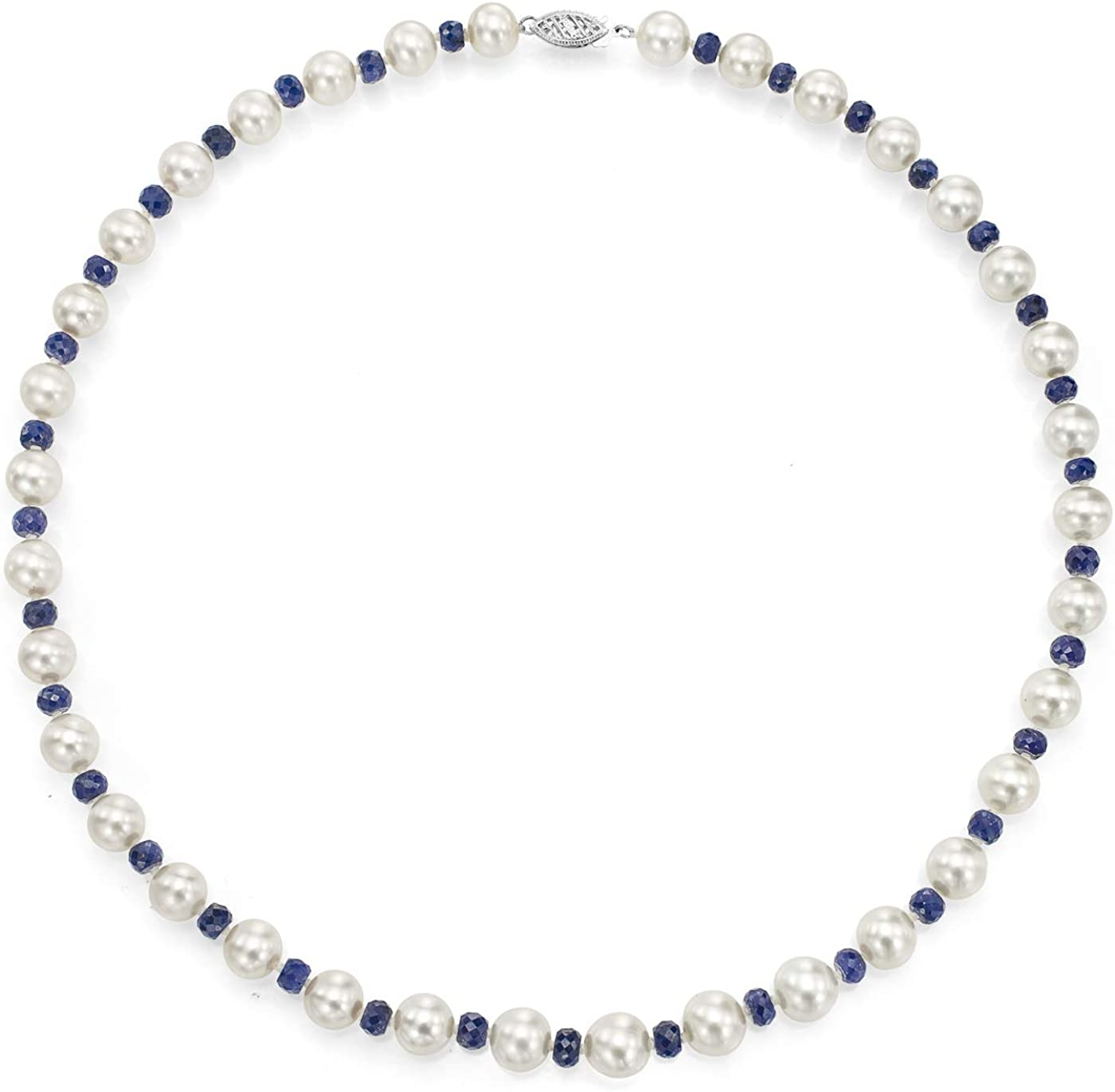 14K White Sales for sale Gold Freshwater Cultured Simulate Luxury goods Pearl Necklace