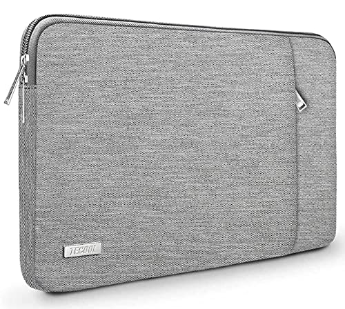 TECOOL 14 inch Laptop Sleeve Case Notebook Protective Cover with Accessory Pocket for HP Stream EliteBook 14, Lenovo IdeaPad ThinkPad 14, Acer Aspire Chromebook 14, Dell Inspiron, Grey