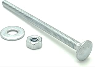"""1//2/"""" x 9/"""" Galvanized Carriage Bolts w\wo Galvanized Hex Nuts Flat Washers 100"""
