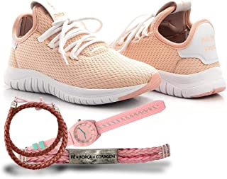 Kit Tênis Têxtil + Relógio e Pulseira Feminino Confort Chic