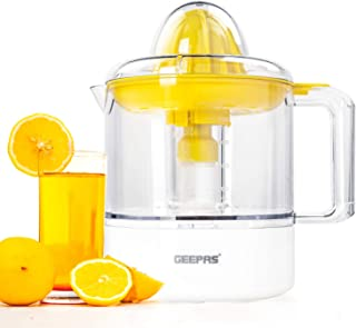 Geepas 40W Citrus Juicer for Quick, Healthy, Nutritious Juices - Effortless Juicer with Double squeezing cones, Bi-Directi...