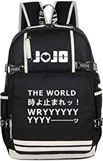 JoJo's Bizarre Adventure Anime Luminoso Mochila Escolar Backpack para Portátil con Puerto de Carga USB /1