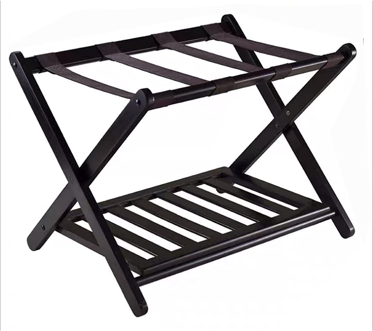 Fees free Vertical Luggage Rack Portable Solid Double-Layer Wood New products, world's highest quality popular! Storage