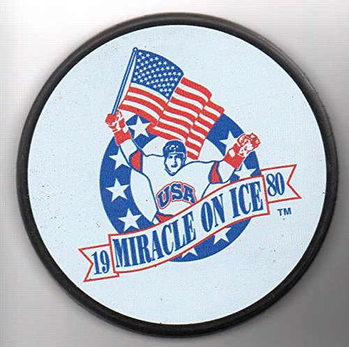 1980 Team USA Olympic Gold Medal Team Miracle On Ice Hockey Puck Lake Placid, New York - BRAND NEW! + FREE Cube