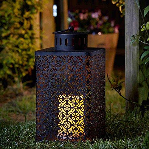 Repose-pieds ottomane Bougie de lanterne fonctionne à piles
