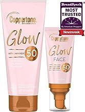 Coppertone Glow SPF 50 Sunscreen Lotion, 5 Oz. + Coppertone Glow Face SPF 50 Sunscreen Lotion | 2 Oz | 7 Fl Oz