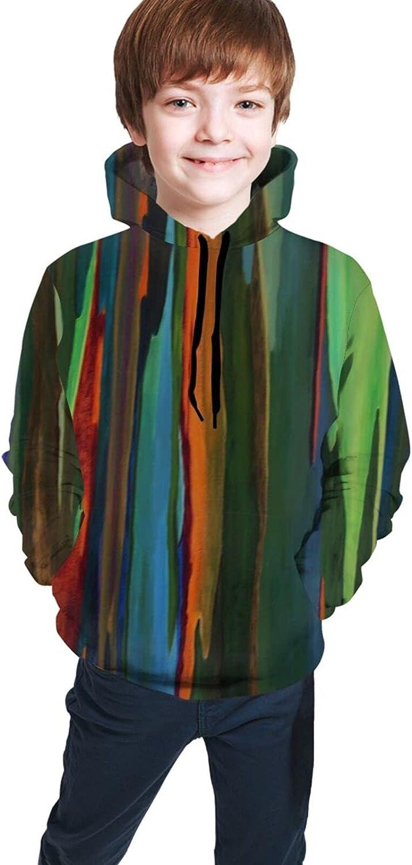 Kimisoy Kids 2021new shipping free Hoodie Rainbow Colored Hooded Sweatshir Comfy Mable SALENEW very popular!