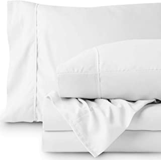 LINENWALAS 100% Cotton -2 Pillow Case With 4 Cushion Covers, Soft Like Silk, Hypoallergenic,Breathable & Cooling Sateen,Hotel Luxury Pillow Cover With Embroidery Cushion Cover- White