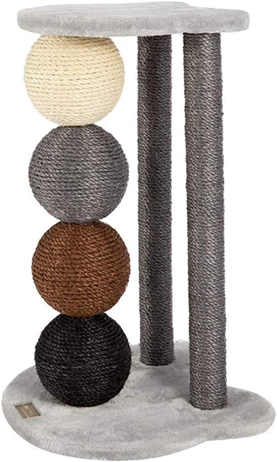 Cat Playing Tower, Cat Tree, Cat Climbing Frame, Sisal Column Pet Toy with 4 Sisal Ball