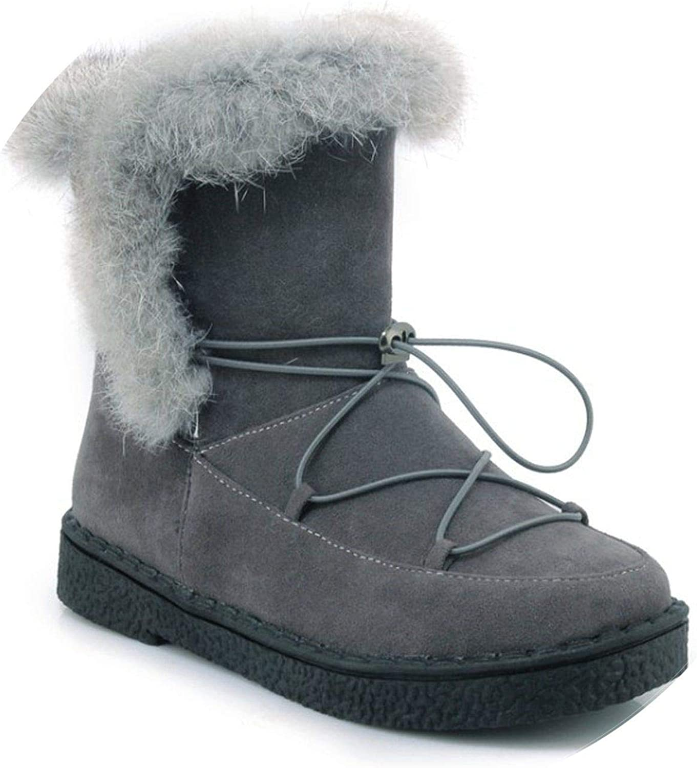 Summer-lavender Warm Snow Boots Real Flat Winter Boots Arrival Women Ankle Boots Warm Fur Plush shoes